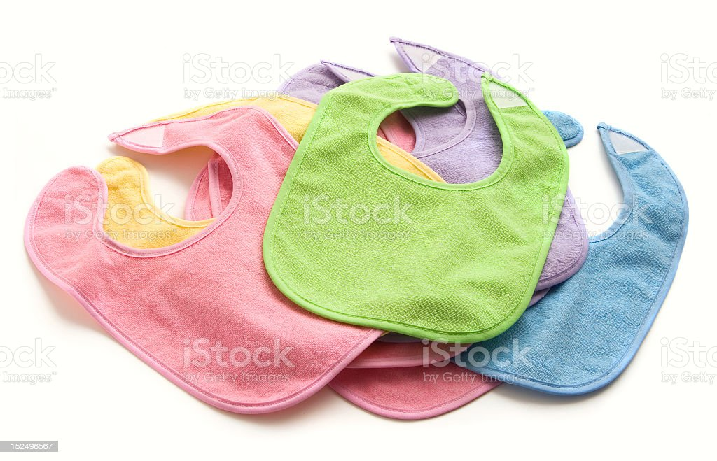 Stack of Baby Bibs royalty-free stock photo