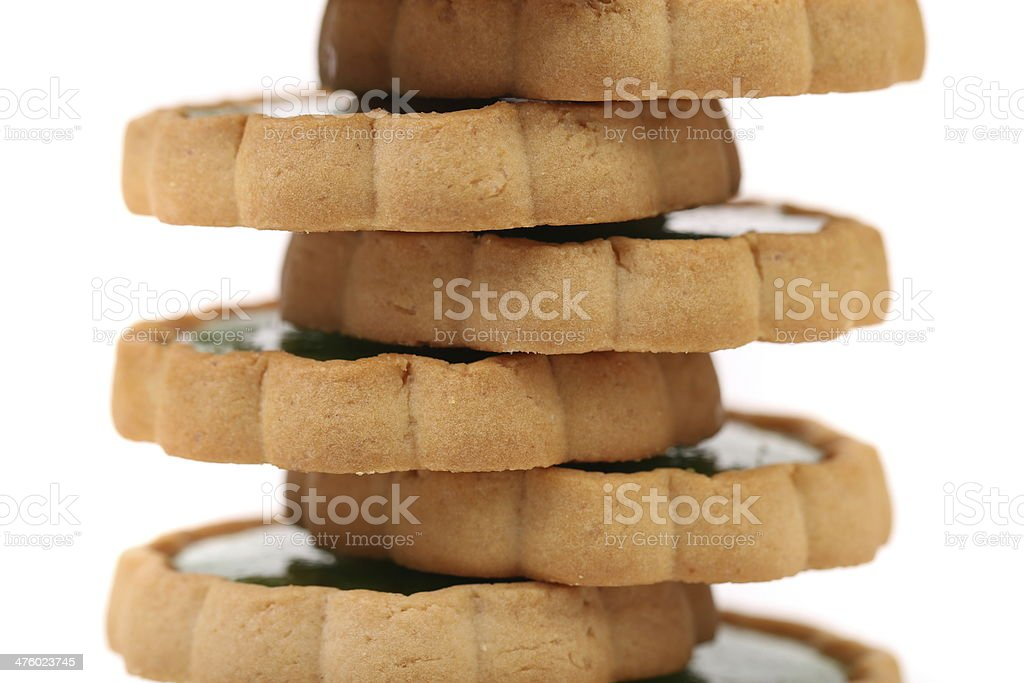 Stack of biscuit with kiwi jam. royalty-free stock photo