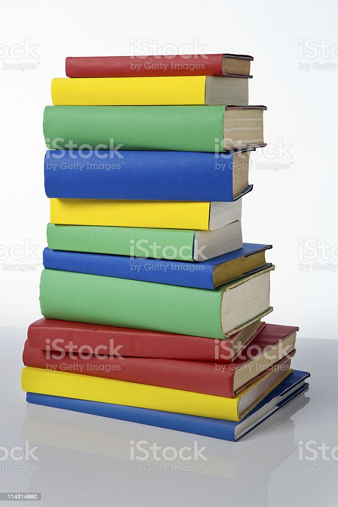 Stack of blank books royalty-free stock photo