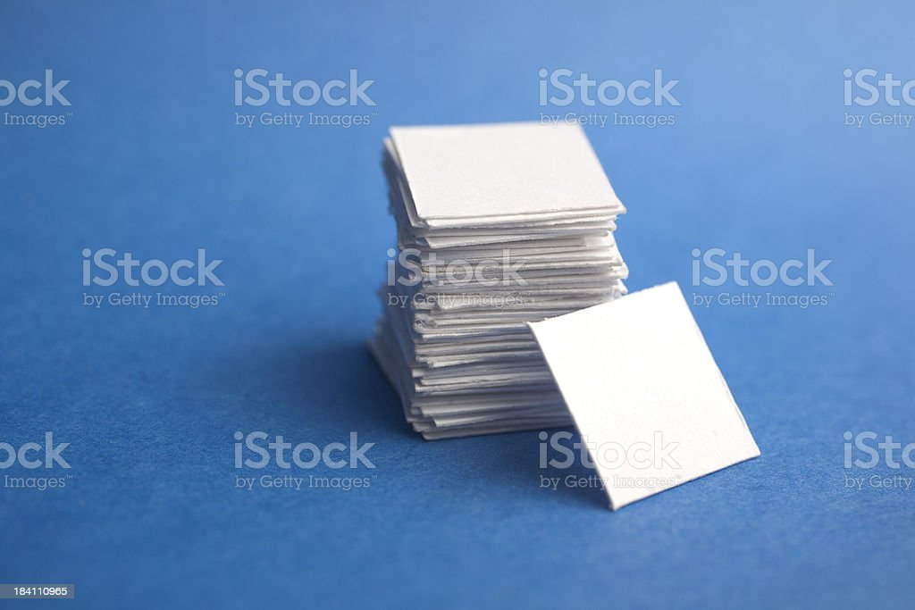Stack of Blank Cards stock photo