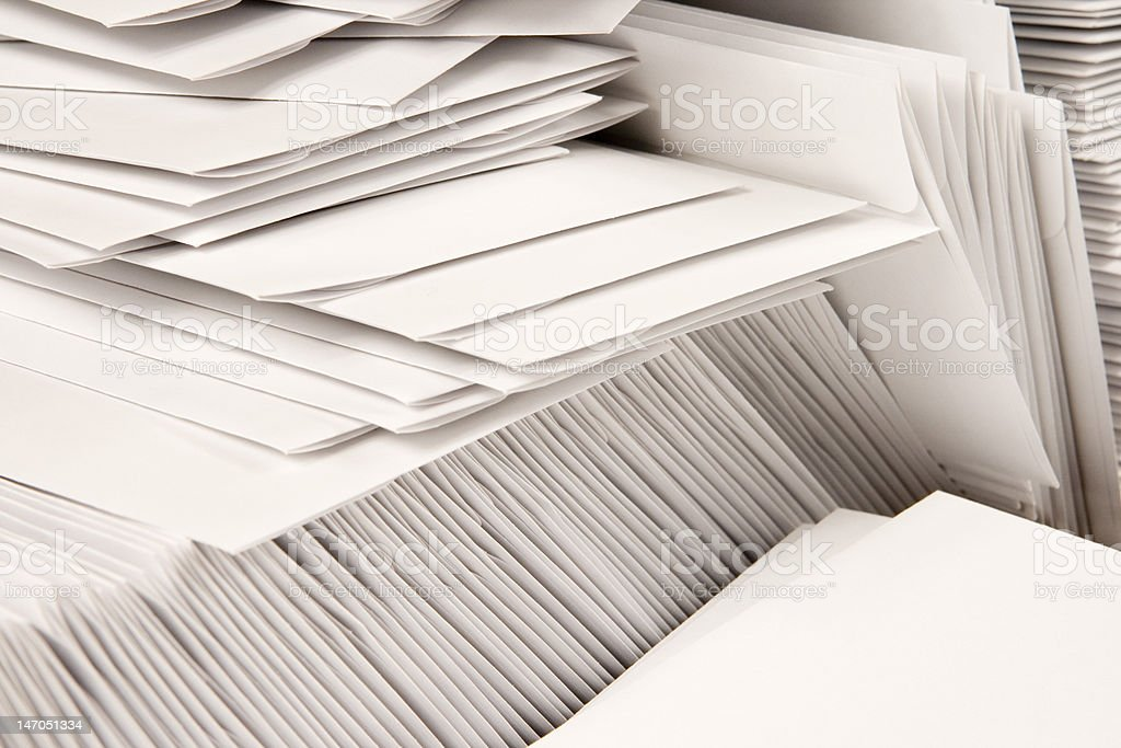 Stack of Blank Envelopes stock photo