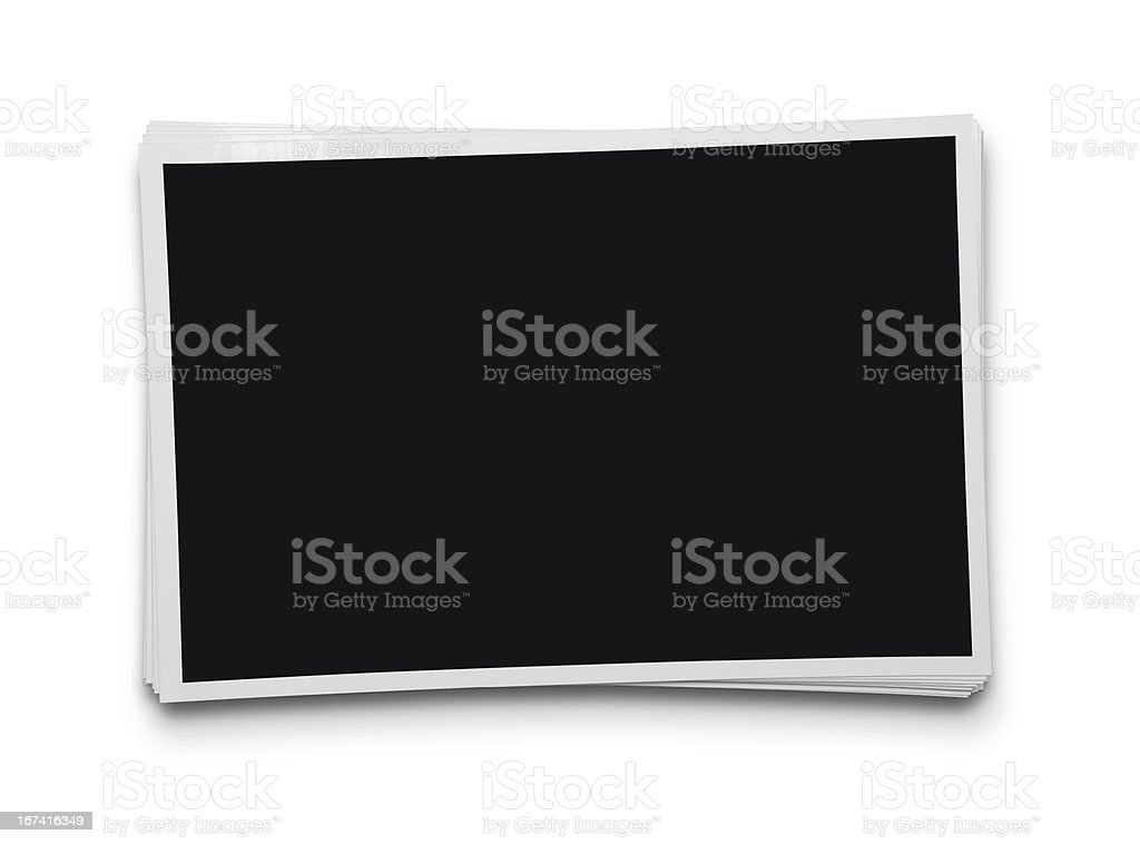 Stack of blank photographs royalty-free stock photo