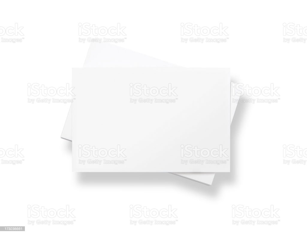 Stack of blank white business cards royalty-free stock photo