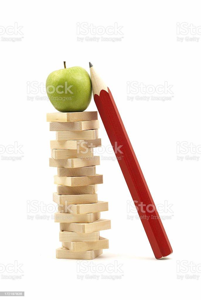 Stack of blocks royalty-free stock photo