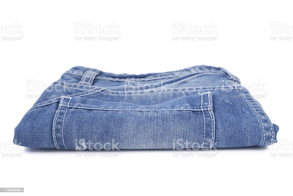 Stack of blue jean royalty-free stock photo