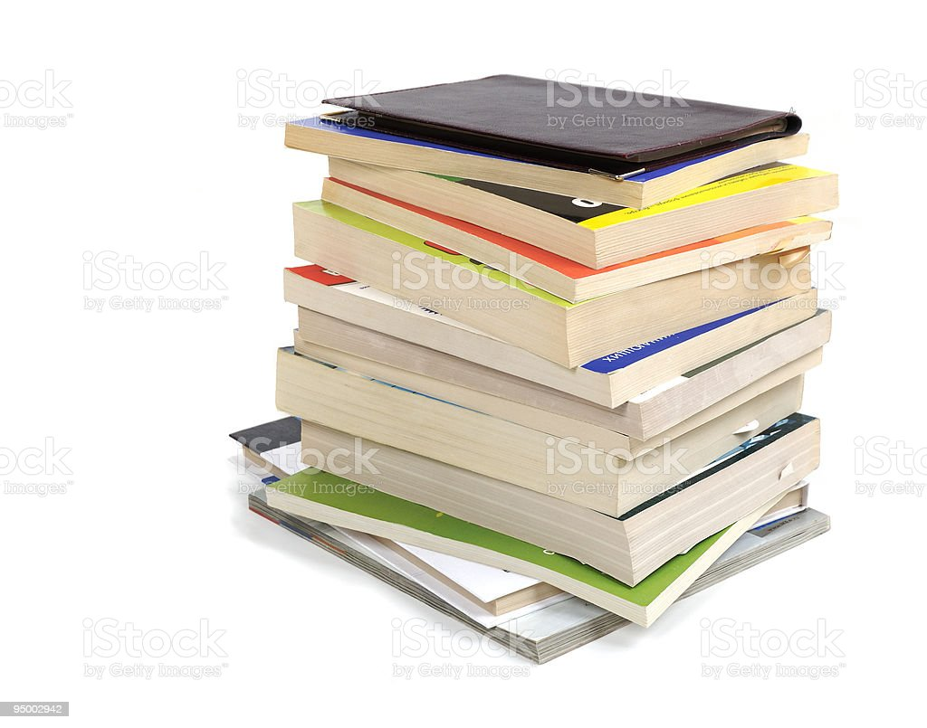 stack of book royalty-free stock photo