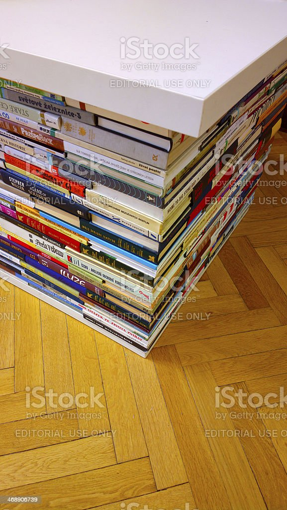 Stack of book spines royalty-free stock photo