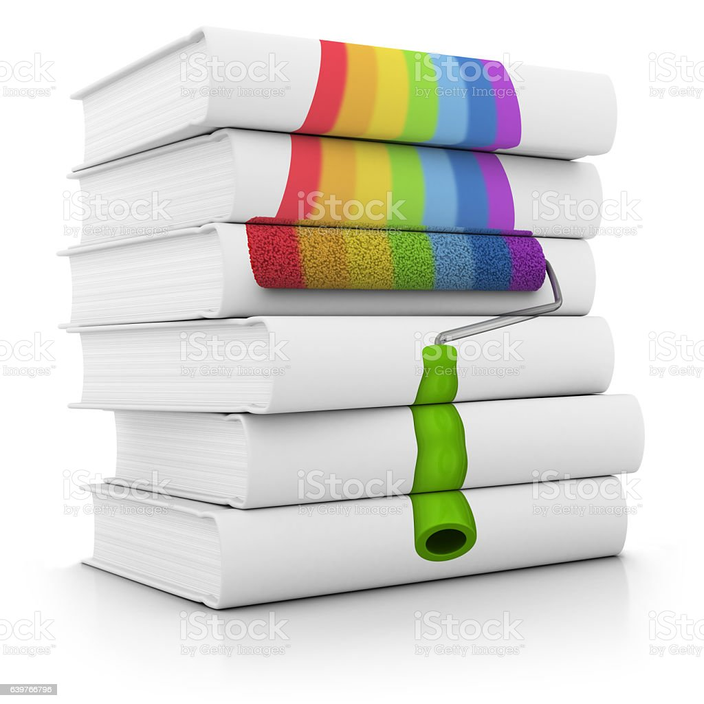 Stack of Books about Reconditioning Apartments and Houses stock photo