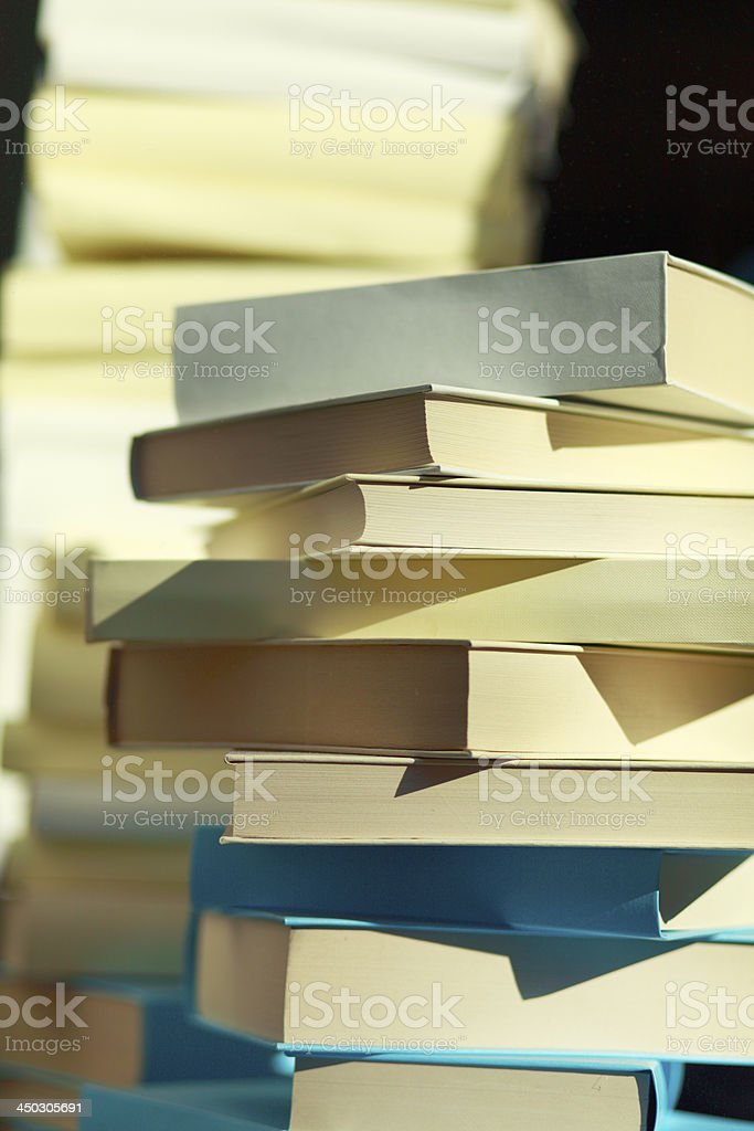 Stack of books in the sun royalty-free stock photo