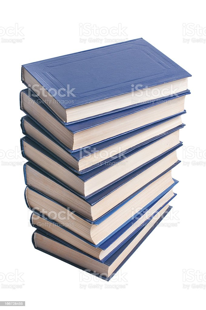 Stack of books on a white background. royalty-free stock photo