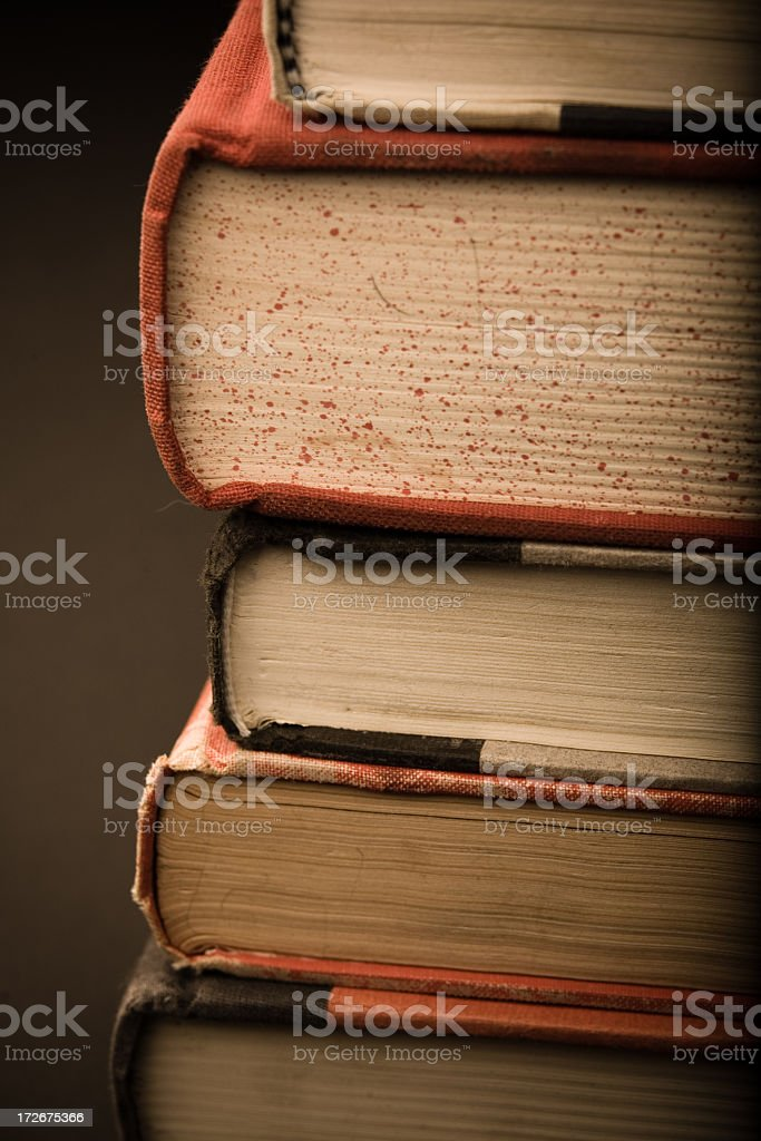 Stack of Books (Sepia) royalty-free stock photo