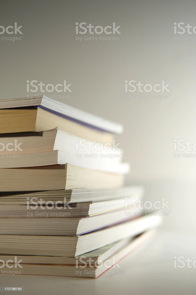 stack of books series royalty-free stock photo