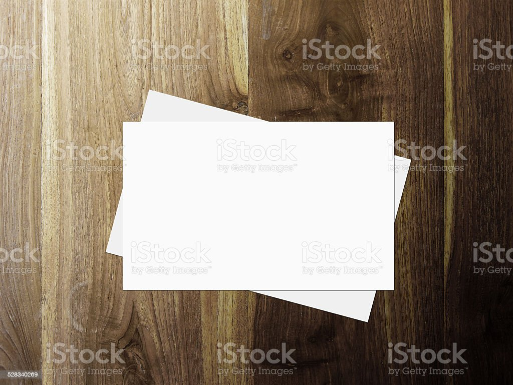 stack of business cards stock photo