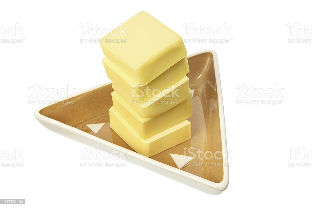 Stack of Butter Slices royalty-free stock photo