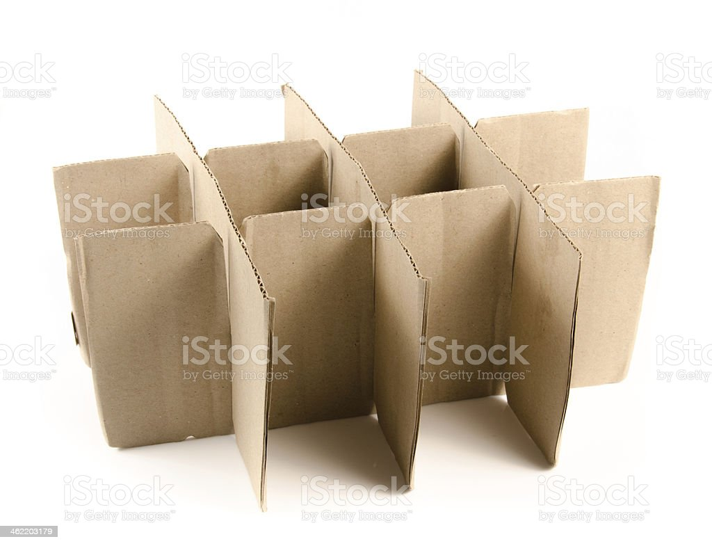 Stack of cardboard paper isolated on white background. stock photo
