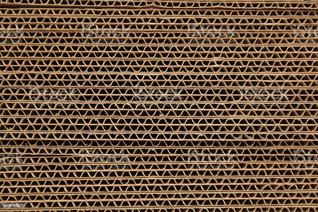 Stack of cardboard stock photo