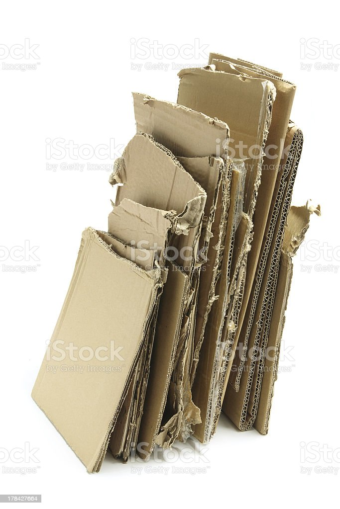 Stack of Cardboard Pieces stock photo