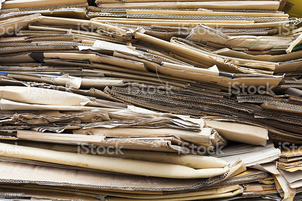 Stack of Carton Boxes royalty-free stock photo