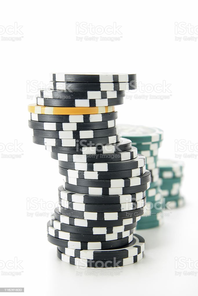 Stack of casino chips stock photo