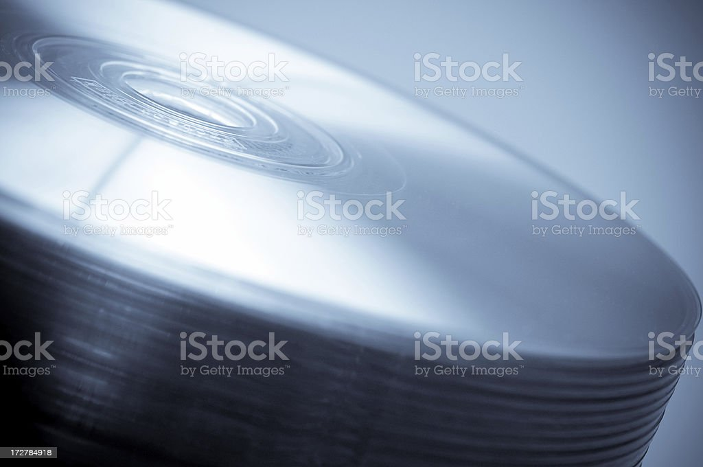 Stack of CDs royalty-free stock photo