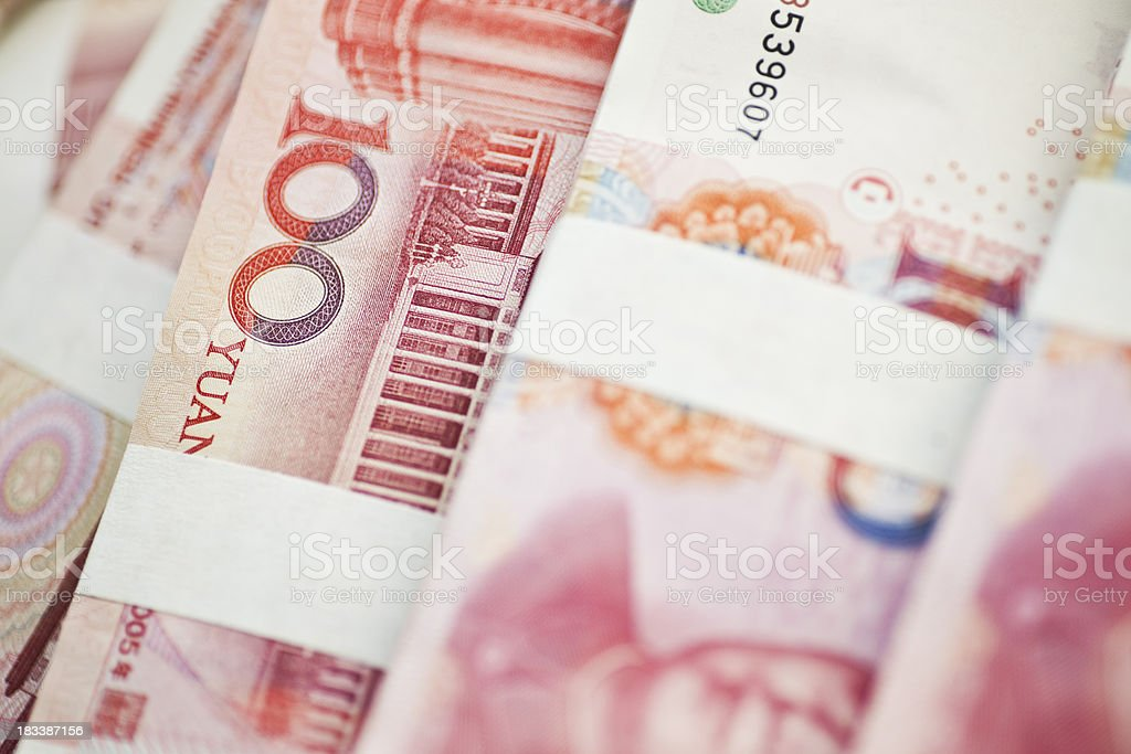 Stack of chinese money royalty-free stock photo