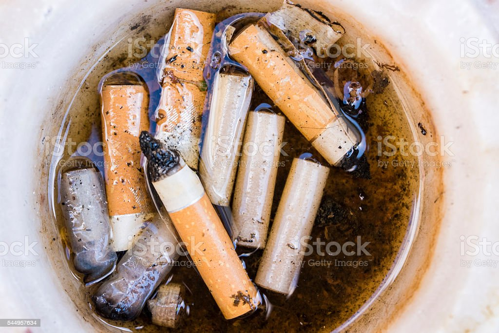 Stack of cigarettes stock photo