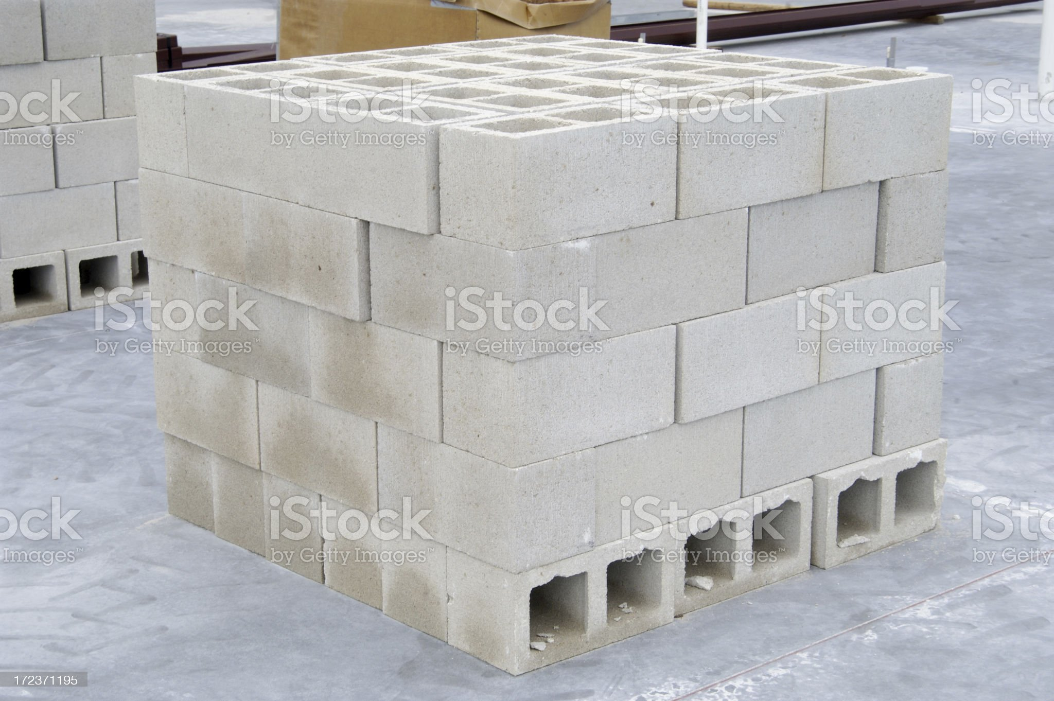Stack of Cinder Blocks royalty-free stock photo