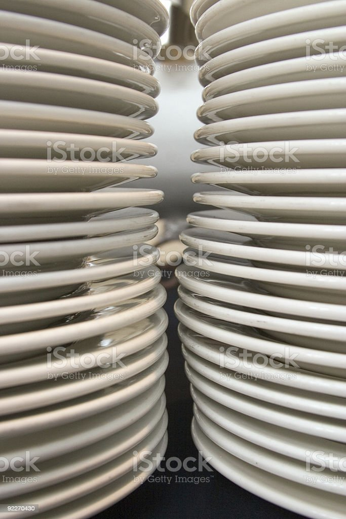Stack of Clean Plates royalty-free stock photo