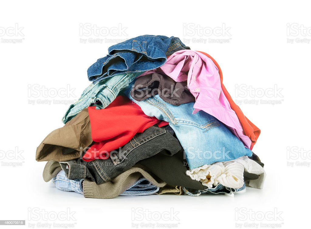 stack of clothes stock photo