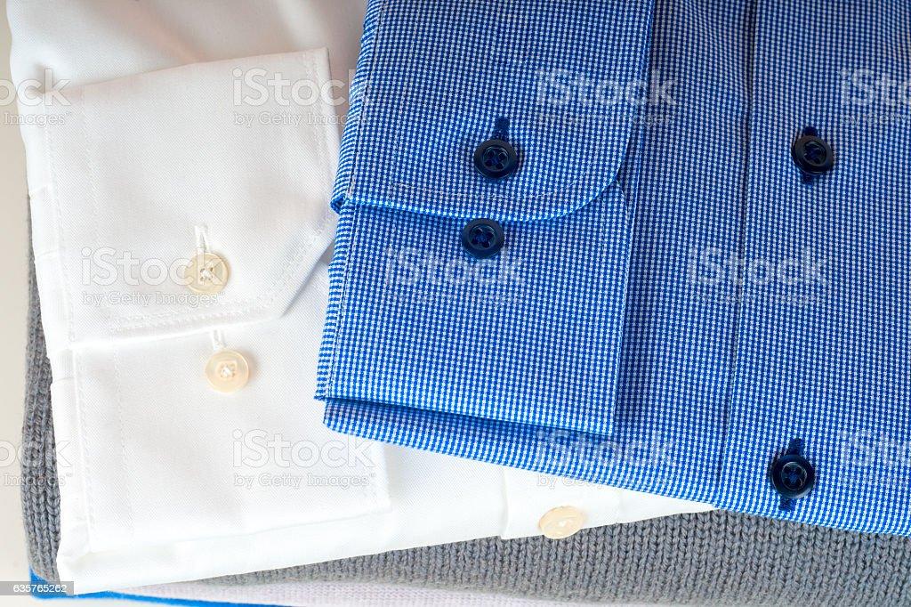 stack of clothing isolated on white stock photo