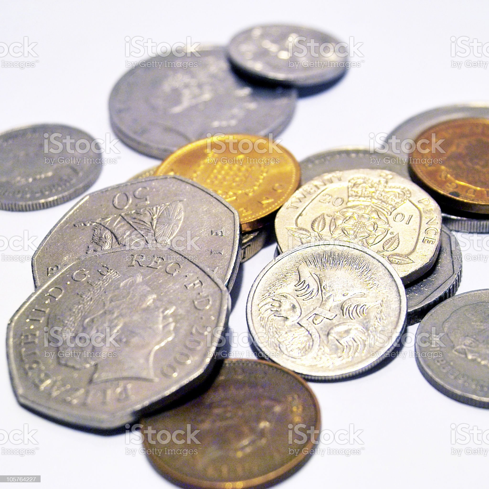 Stack of coins royalty-free stock photo