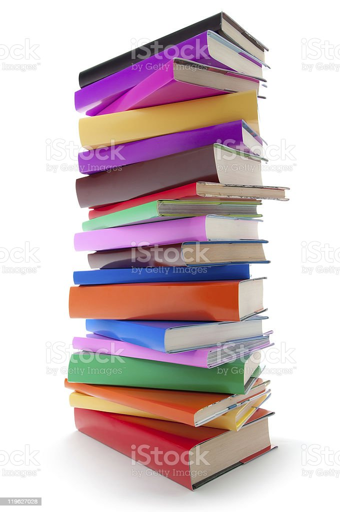 stack of color books royalty-free stock photo