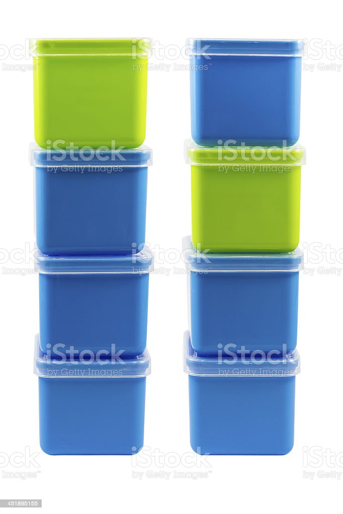 Stack of color boxes royalty-free stock photo