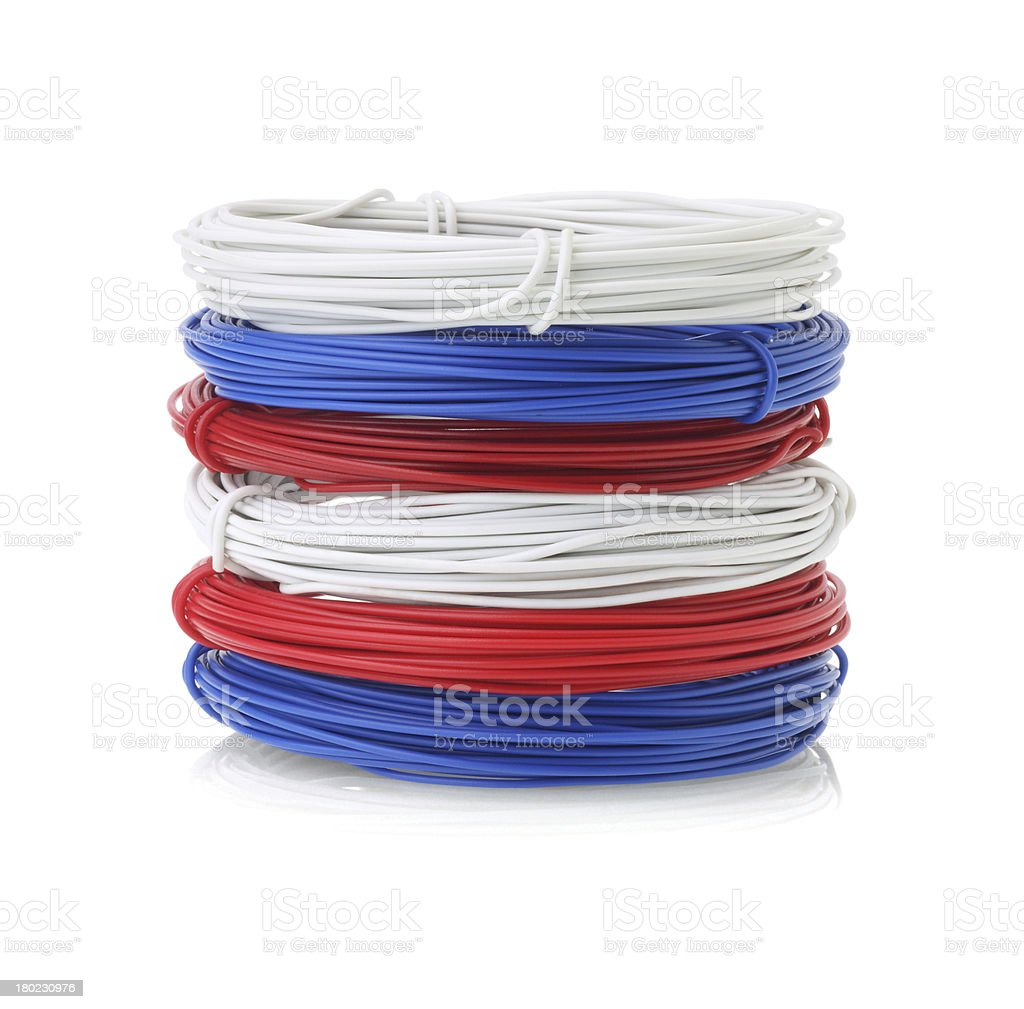 Stack Of Color Wires royalty-free stock photo