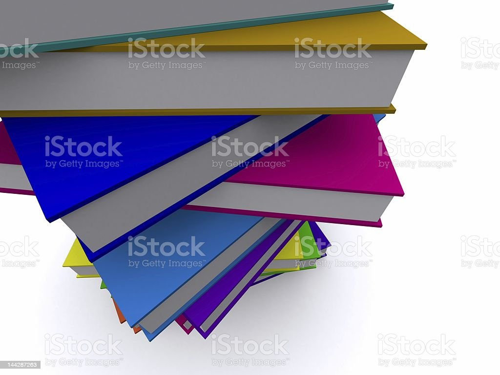 stack of colored books royalty-free stock photo