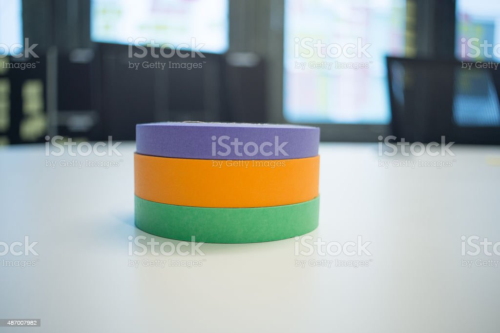 Stack of Colored Craft Tape royalty-free stock photo