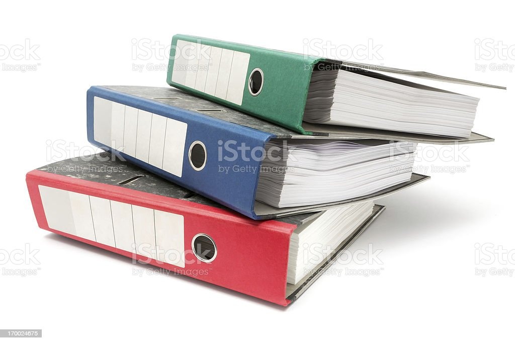 Stack of Colored Ring Binders royalty-free stock photo