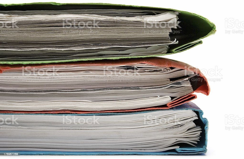 Stack of Colorful Binders stock photo