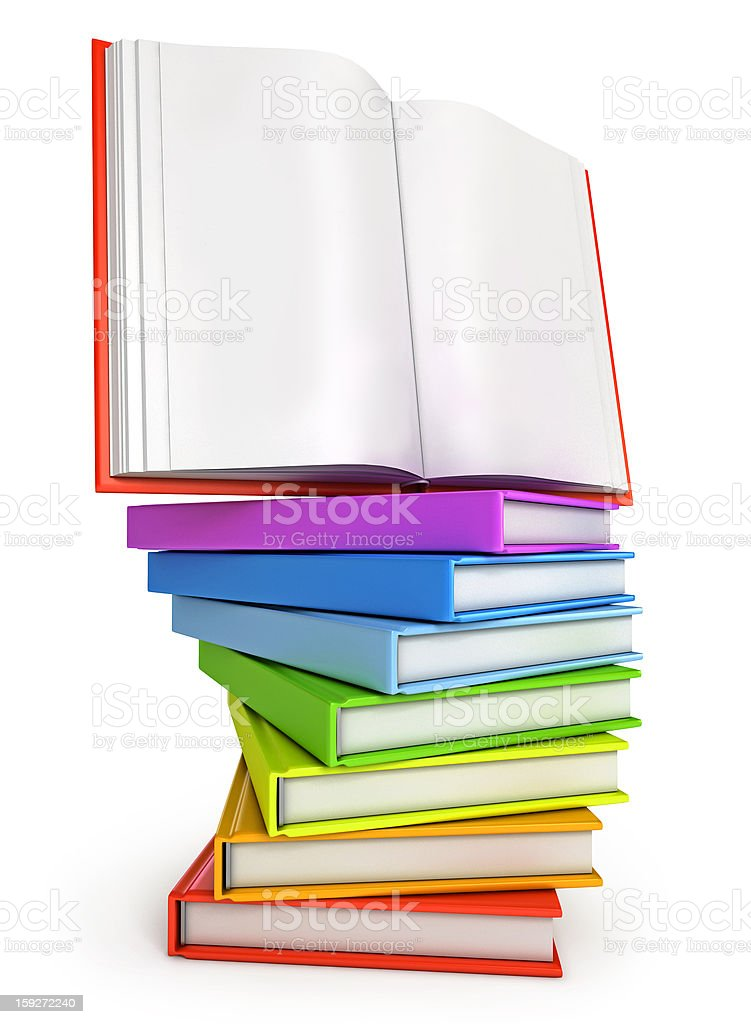 Stack of colorful books royalty-free stock photo