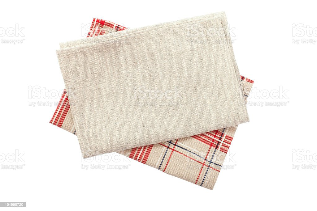 Stack of colorful dish towels stock photo
