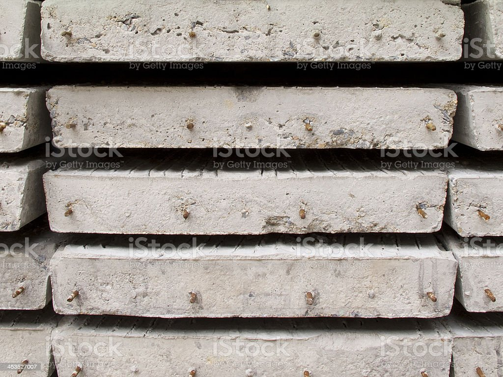 Stack of concrete building slab royalty-free stock photo