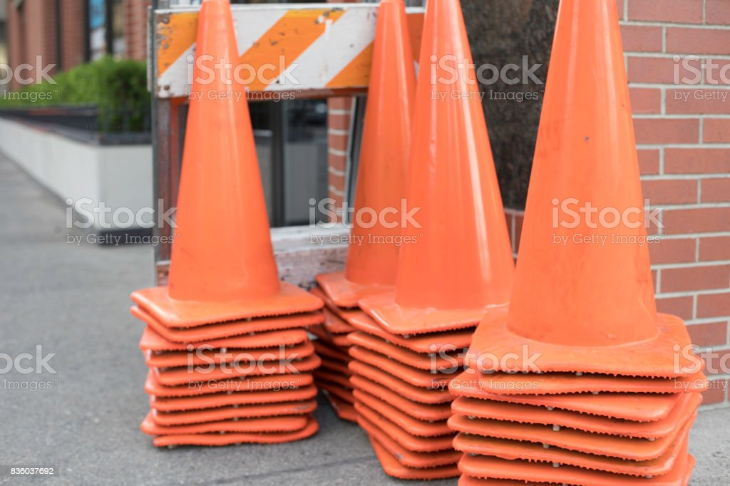 Stack of Cones stock photo