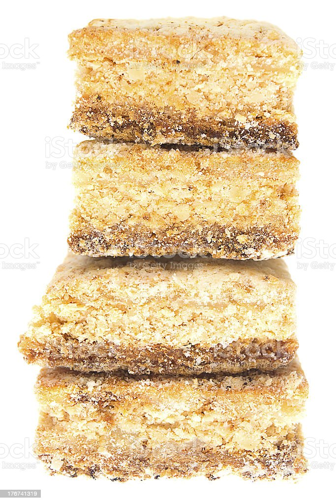 Stack of cookies isolated on white royalty-free stock photo