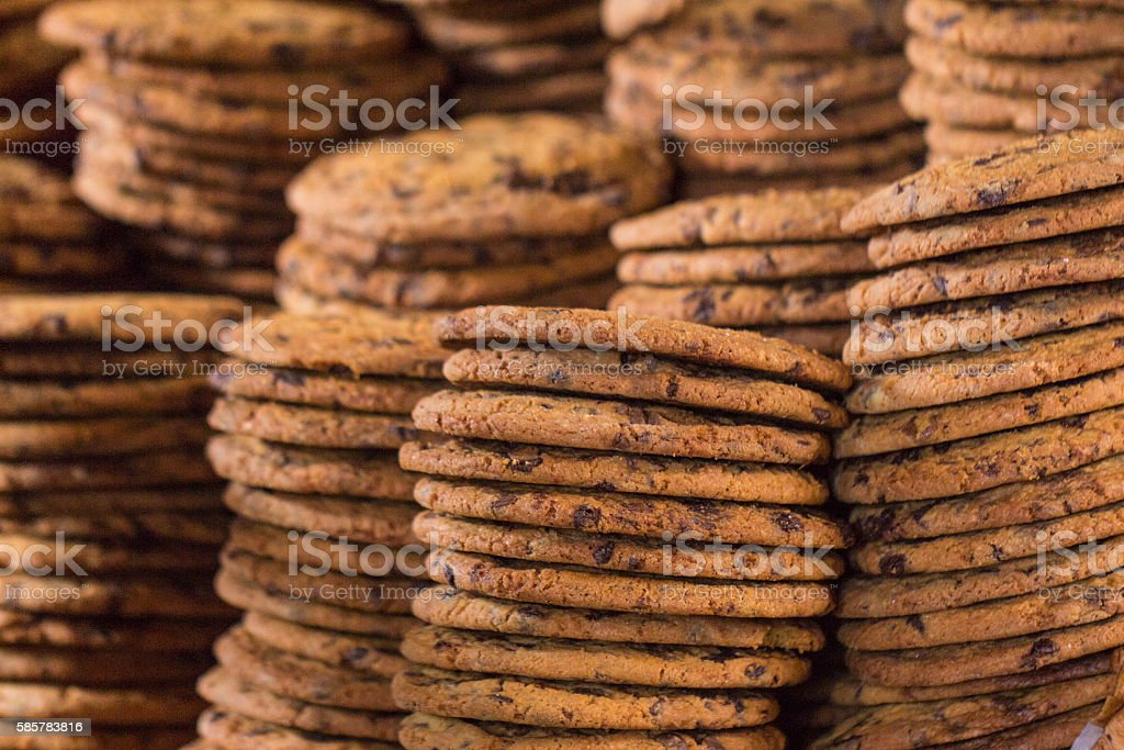 Stack of Cookies stock photo