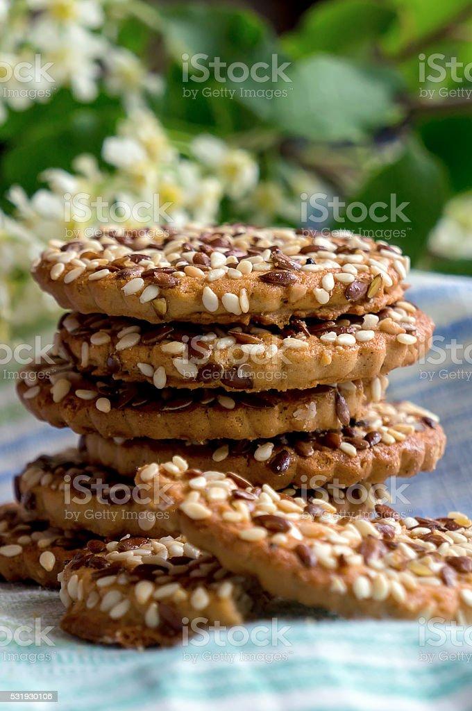 Pilha de sementes de'cookies' foto de stock royalty-free