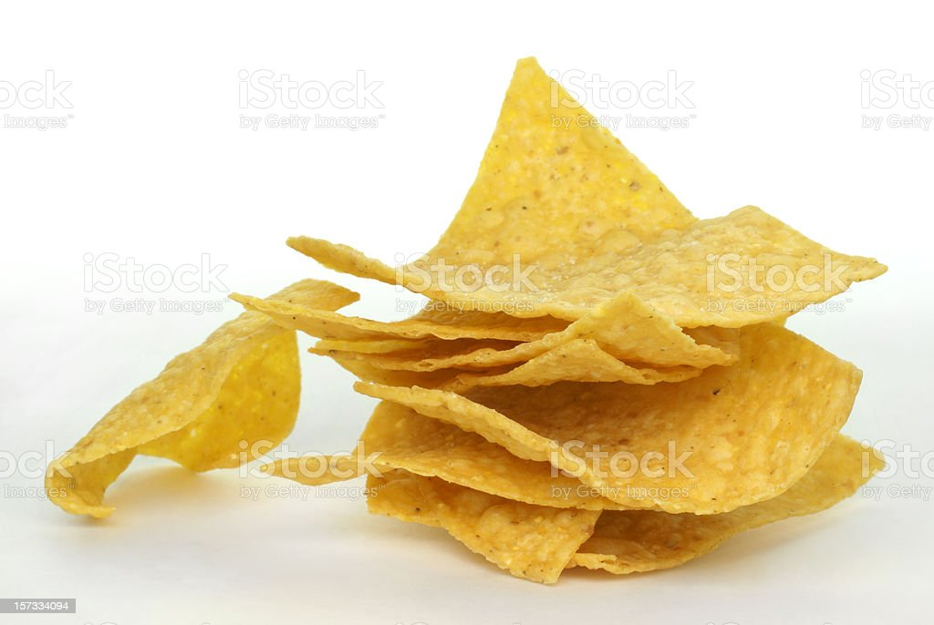stack of corn chips stock photo