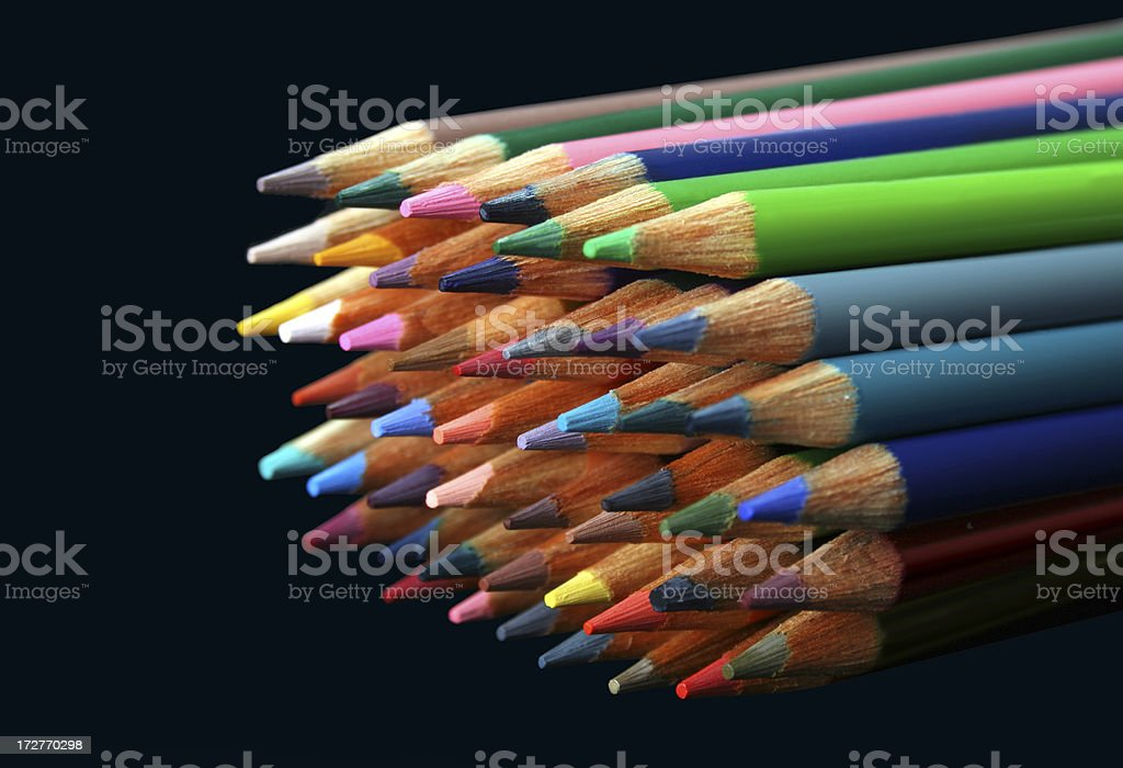 stack of crayons royalty-free stock photo