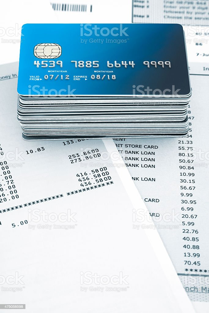 stack of Credit Card stock photo