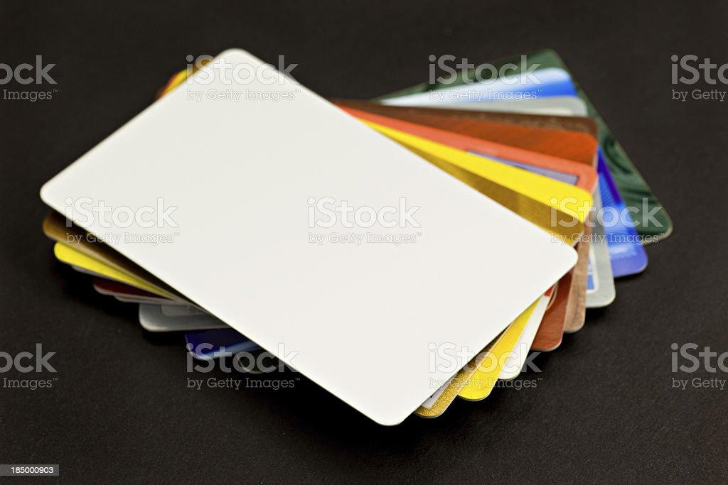 Stack of Credit Cards stock photo