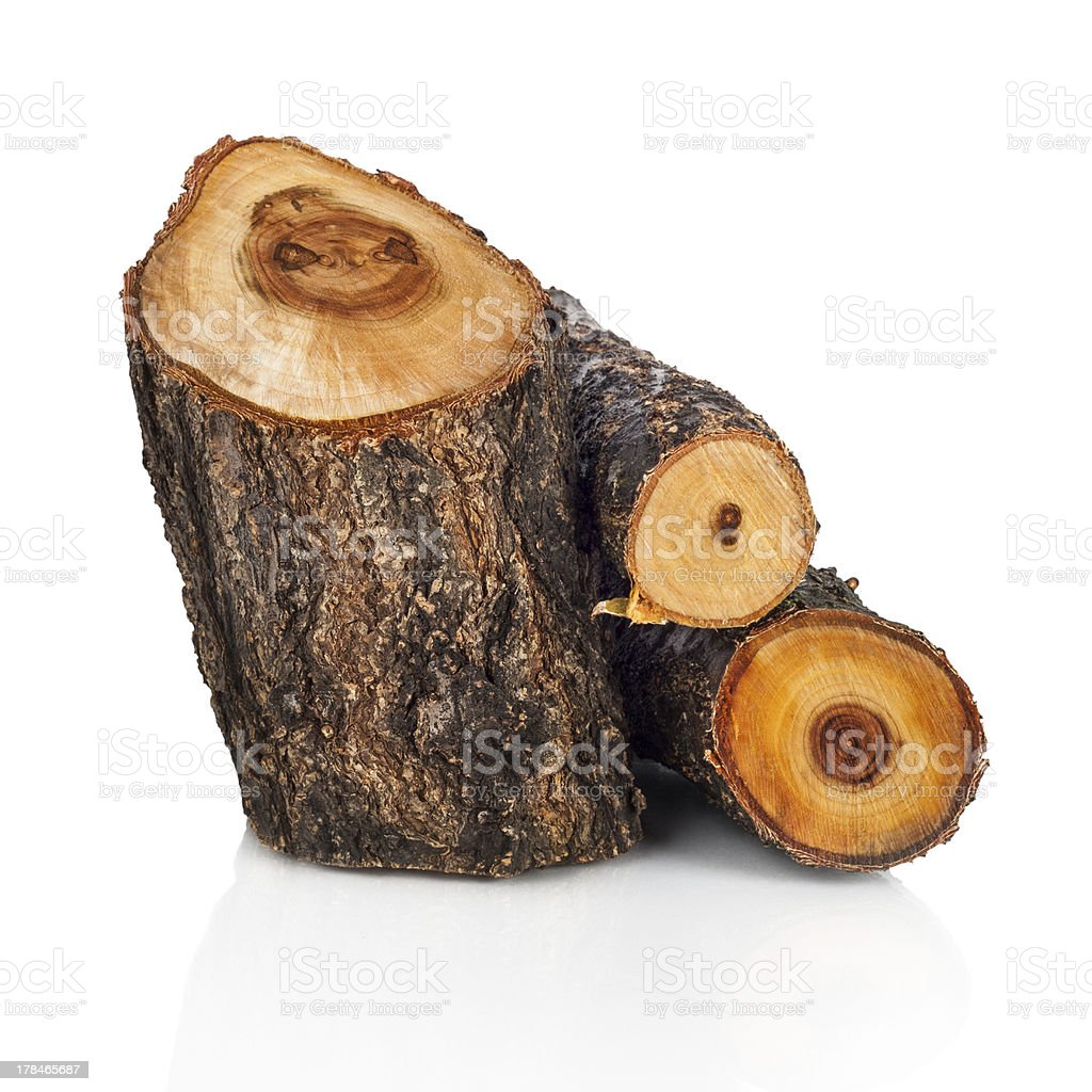 Stack of cut logs fire wood from tree royalty-free stock photo
